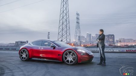 Henrik Fisker with the Fisker EMOtion concept