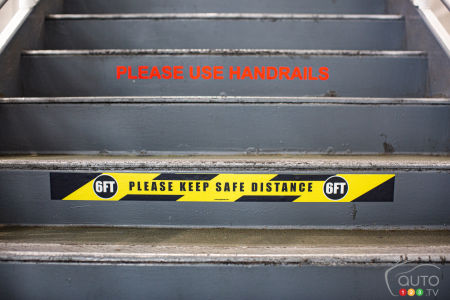 New safety instruction on stairs, Ford plant