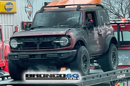 One of the damaged Ford Bronco prototypes