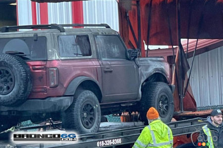 Damaged Ford Bronco prototype