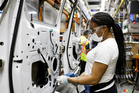 L'usine Ford à Dearborn, au Michigan, le 18 mai