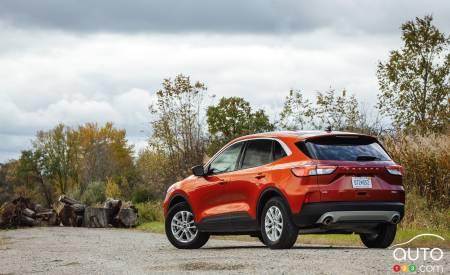 2020 Ford Escape, three-quarters rear