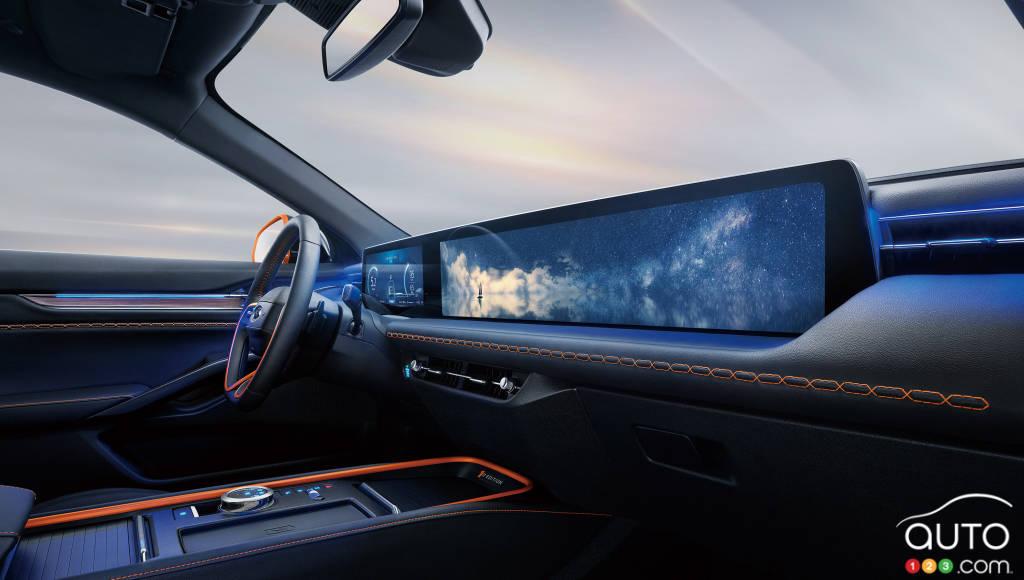 Ford Evos, écran principal