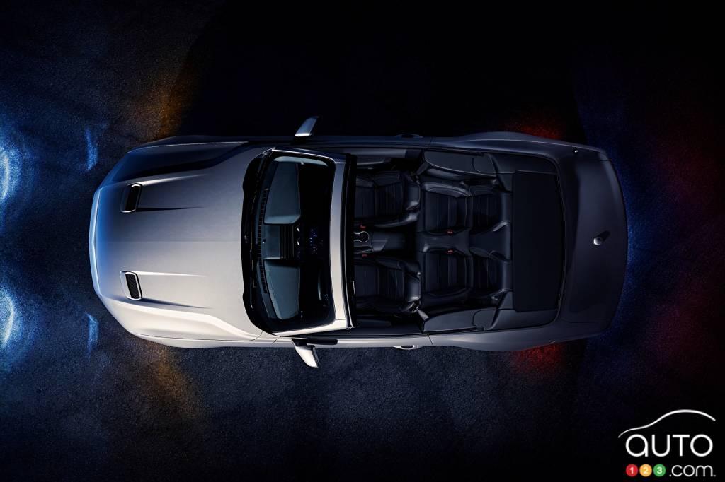 Ford Mustang GT décapotable 2020, de haut