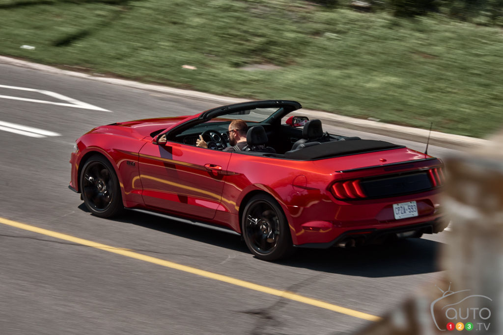 Ford Mustang GT décapotable 2020, trois quarts arrière