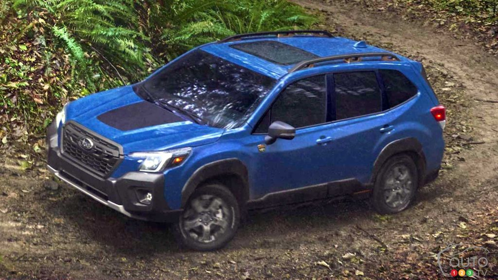Subaru Forester Wilderness 2022, de haut