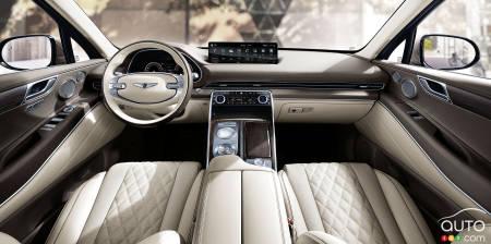 2021 Genesis GV80, interior, first row