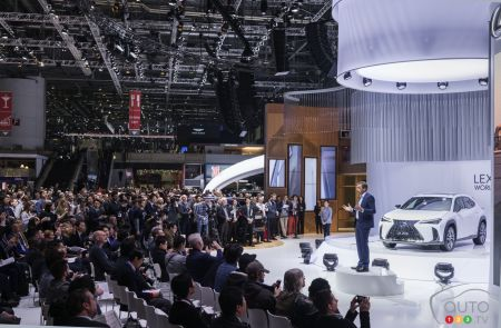 Lexus presentation at 2019 Geneva Motor Show