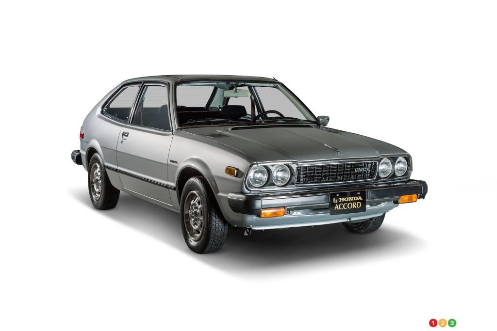 Honda Accord 1976, trois quarts avant