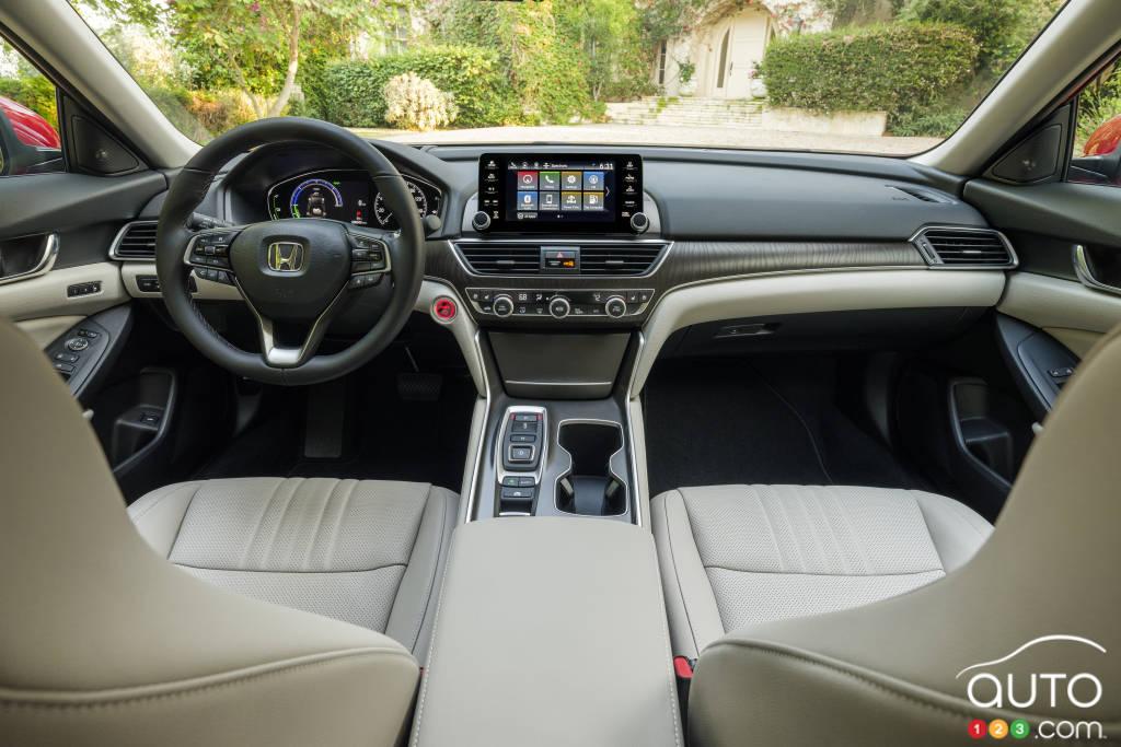 Honda Accord Touring hybride 2021, intérieur