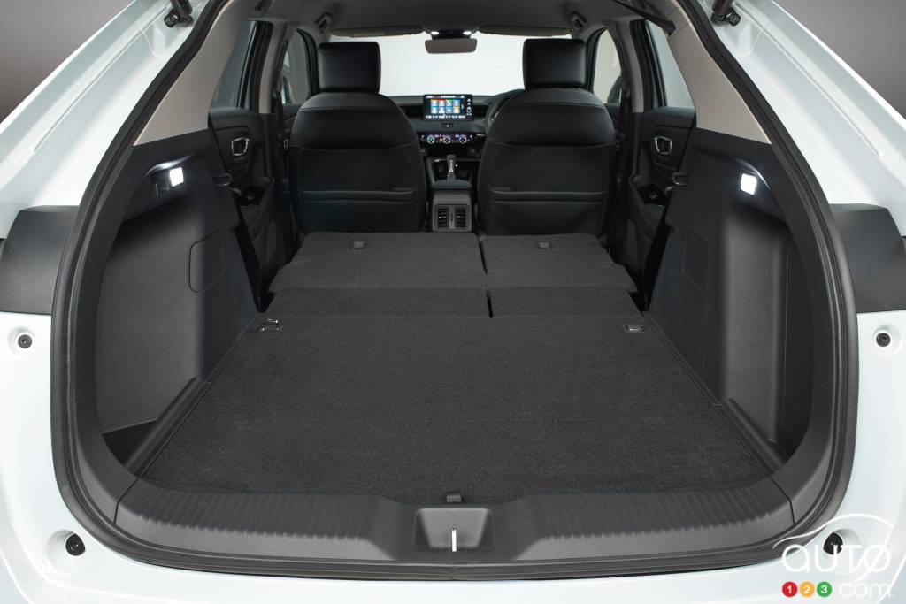 Honda HR-V 2022 (Asie, Europe), coffre, sièges pliés