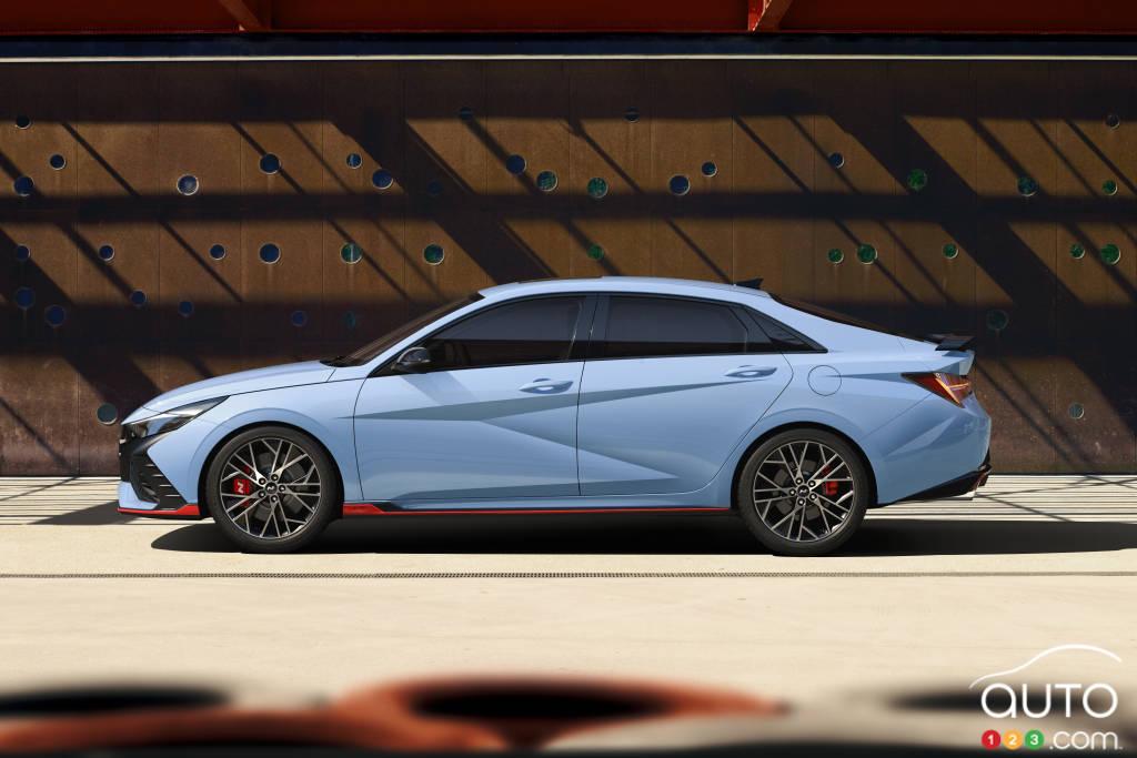 Hyundai Elantra N 2022 (Europe), profil