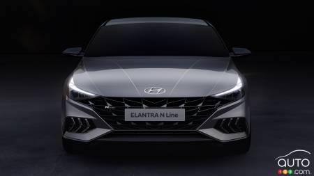 2021 Hyundai Elantra N Line, front
