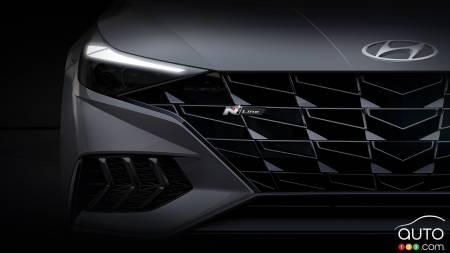 2021 Hyundai Elantra N Line, badge