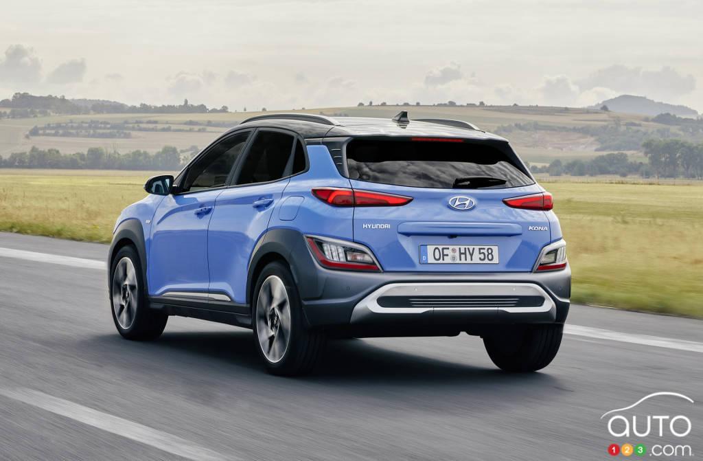 Hyundai Kona 2022, trois quarts arrière