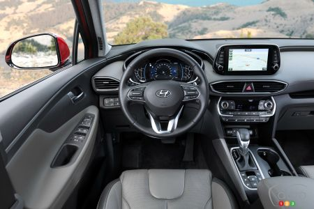 2020 Hyundai Santa Fe, interior