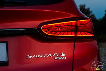 2020 Hyundai Santa Fe, rear light