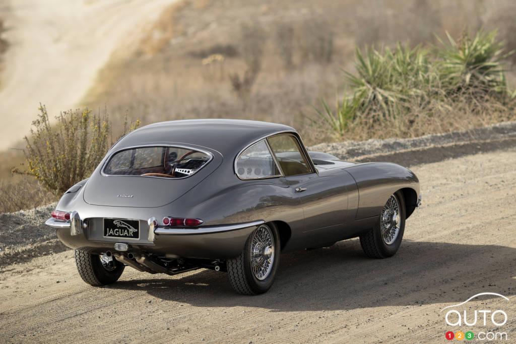 Jaguar XK-E 1961, trois quarts arrière