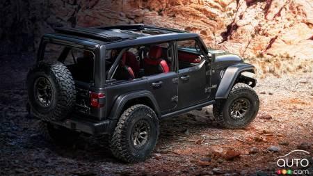 Jeep Wrangler Rubicon 392 concept, tthree-quarters rear