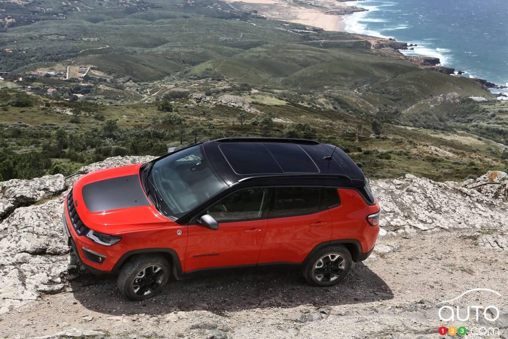 Jeep Compass Trailhawk 2020, de haut