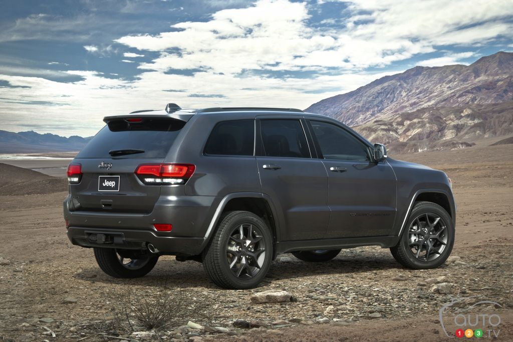 Jeep Grand Cherokee 80th Anniversary 2021, trois quarts arrière