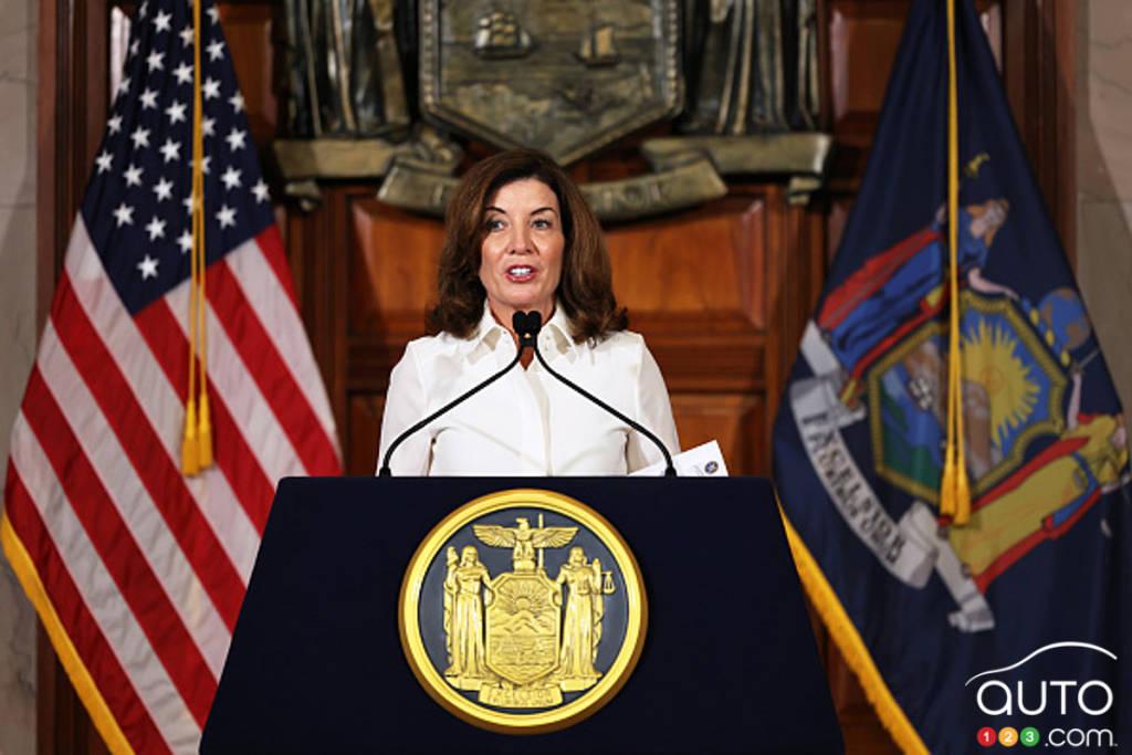La gouverneure de l'État de New York, Kathy Hochul