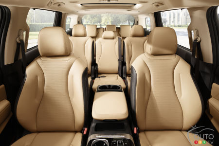 2022 Kia Sedona (Kia Carnival), three rows