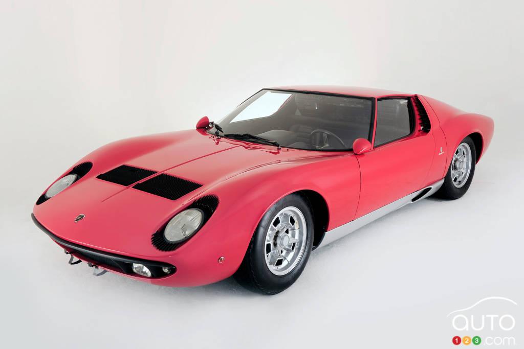 Lamborghini Miura 1966, trois quarts devant