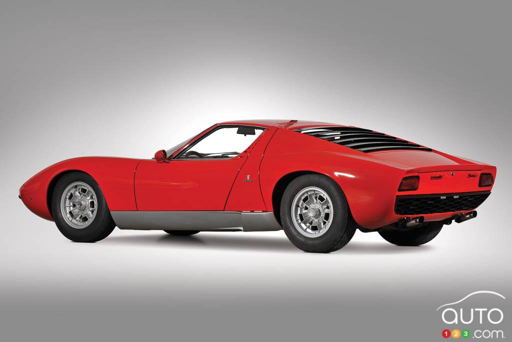 Lamborghini Miura 1966, trois quarts arrière