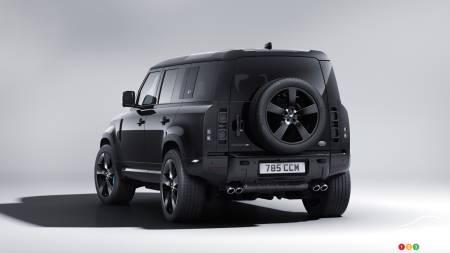 Land Rover Defender James Bond Edition, tres cuartos traseros