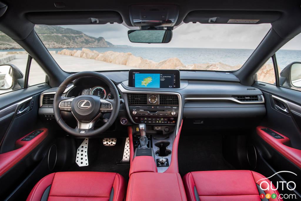 Lexus RX 450h 2020, intérieur