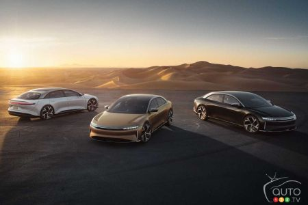 The three Lucid Air variants