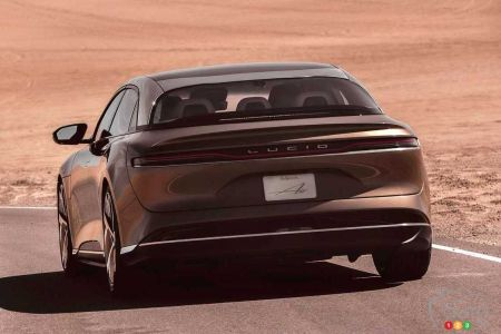 Lucid Air, rear