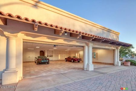 The home's 100-car garage, fig. 1