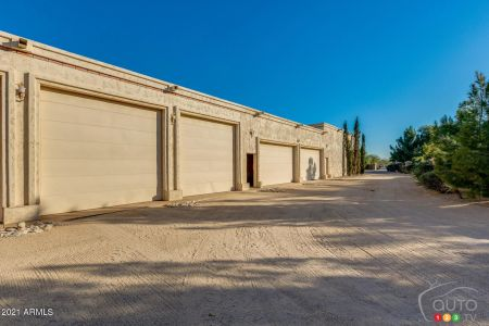 The home's 100-car garage, fig. 3