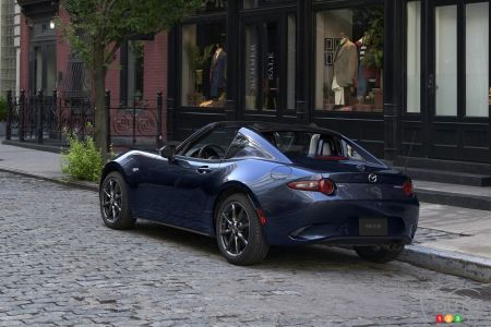 2021 Mazda MX-5, three-quarters rear