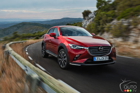 2020 Mazda CX-3, on the road