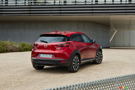 2020 Mazda CX-3, three-quarters rear