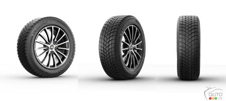 Different views of the X-ICE SNOW tire
