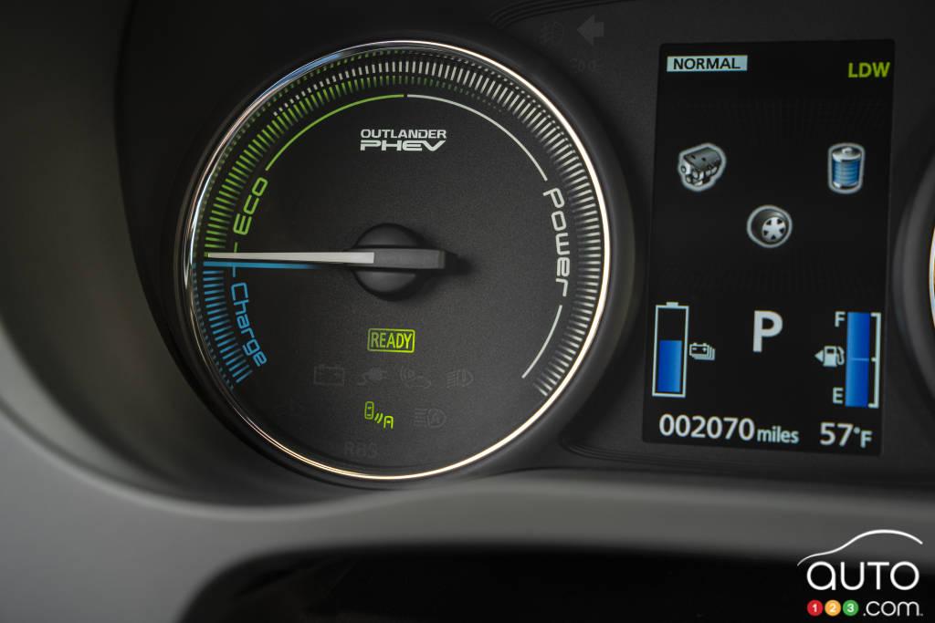 Mitsubishi Outlander PHEV, cadran de charge