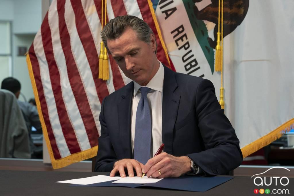 Gavin Newsom, gouverneur de l'état de Californie