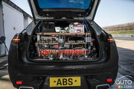 The future all-electric Porsche Macan, batteries