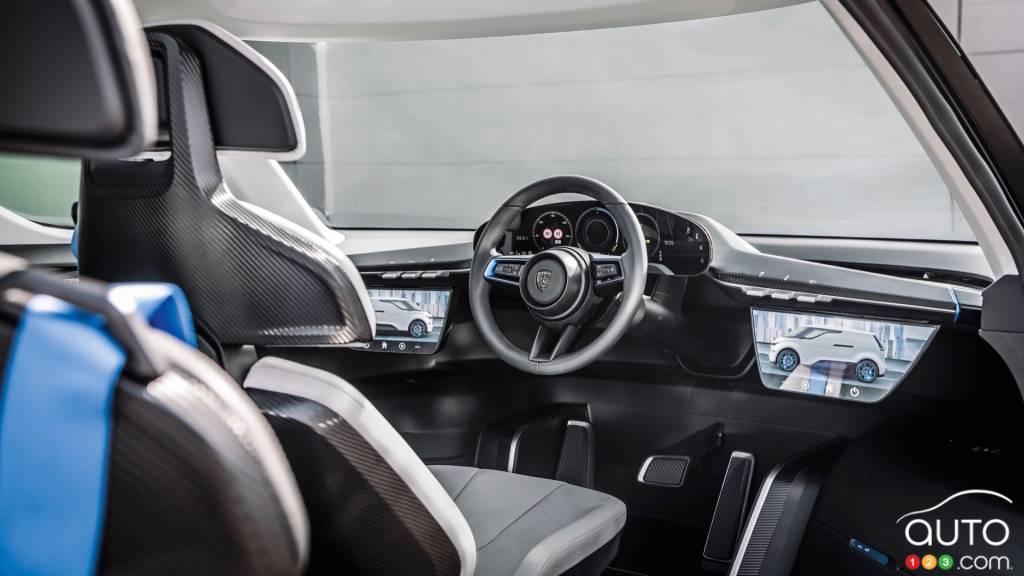 Le Porsche Renndienst Study, tableau de bord