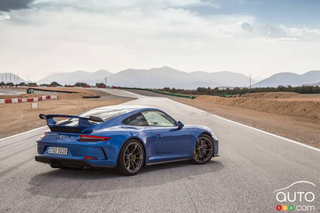 Porsche 911 GT3 2018, trois quarts arrière