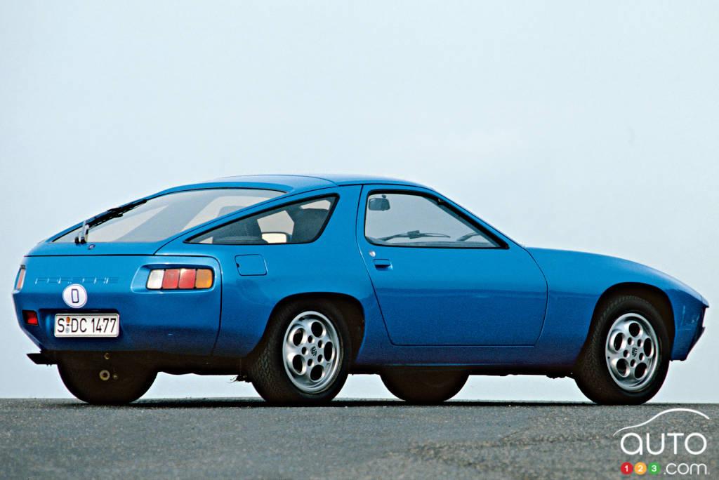 Porsche 928 1978, trois quarts arrière