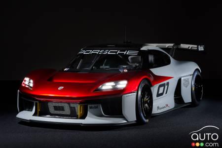 Porsche Mission R concept, front