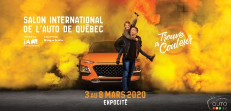 Ad for the 2020 Quebec auto show