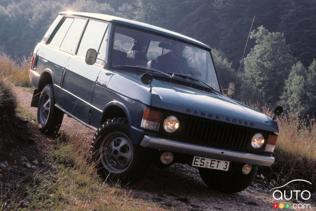 Land Rover Range Rover 1970, en descente