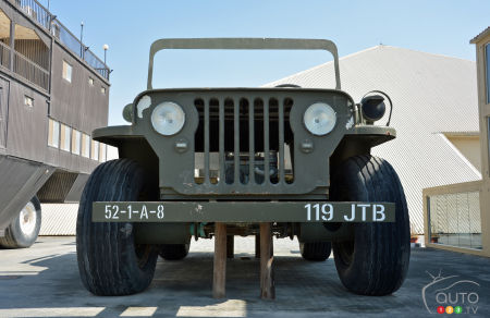 The giant Jeep Willys, front