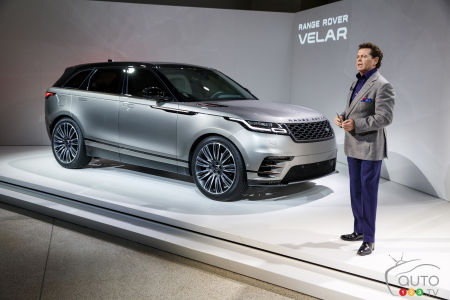Gerry McGovern, director of design at Land Rover who unveils the Velar